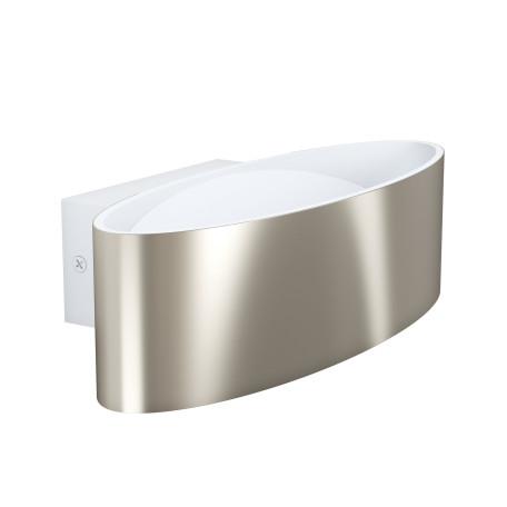 Настенный светодиодный светильник Eglo Maccacari 98543, LED 10W 3000K 1100lm, белый, никель, металл