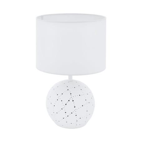 Настольная лампа Eglo Montalbano 98381, 1xE27x60W + LED 7W, белый, керамика, текстиль
