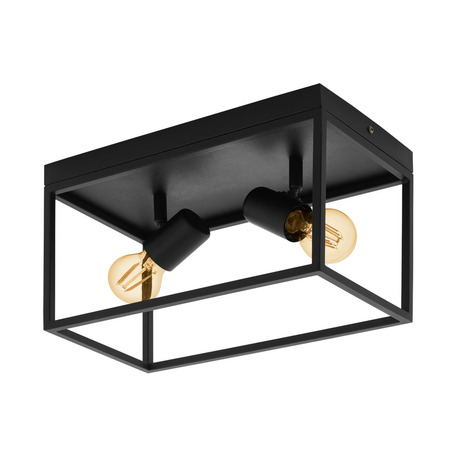 Потолочный светильник Eglo Silentina 98332, 2xE27x40W, черный, металл