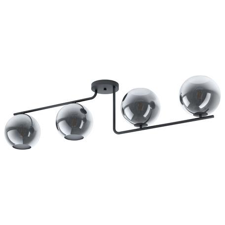 Потолочный светильник Eglo Marojales 98515, 4xE27x28W, черный, дымчатый, металл, стекло