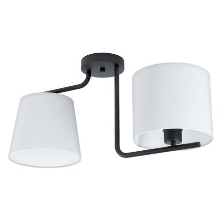 Потолочный светильник Eglo Marojales 1 98517, 2xE27x28W, черный, белый, металл, текстиль