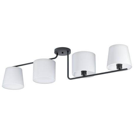 Потолочный светильник Eglo Marojales 1 98518, 4xE27x28W, черный, белый, металл, текстиль