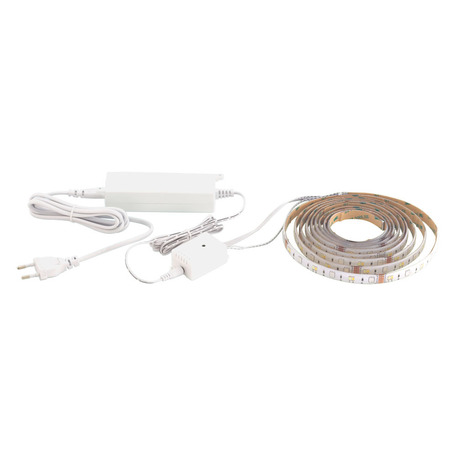 Светодиодная лента в комплекте с питанием с пультом ДУ Eglo LED-Stripe-A 98296, LED 17W 2765K 1800lm CRI>80, белый, пластик