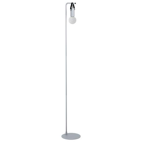 Торшер Eglo Apricale 98285, 1xE27x15W, серый, металл, кожа/кожзам