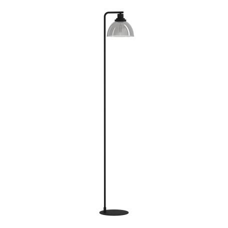 Торшер Eglo Beleser 98387, 1xE27x60W, черный, дымчатый, металл, стекло