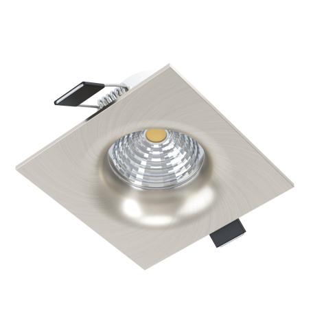 Встраиваемый светодиодный светильник Eglo Saliceto 98474, LED 6W 4000K 450lm, никель, металл