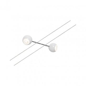 Светодиодный светильник с регулировкой направления света для тросовой системы Paulmann Spot Dean 94202, LED 7W, хром, белый, металл, пластик
