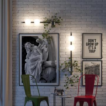 Бра Odeon Light Walli Flower 4681/1W, 1xE14x40W, черный, белый, металл со стеклом, стекло - миниатюра 4