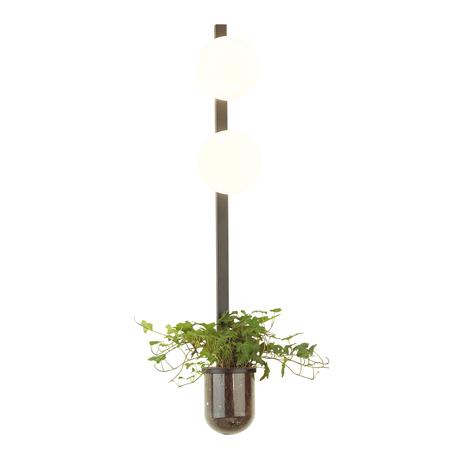 Бра Odeon Light Walli Flower 4681/2WA, 2xE14x40W, черный, белый, металл со стеклом, стекло
