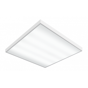 Светодиодная панель для встраиваемого или накладного монтажа Gauss 842123240, LED 36W 4000K 2250lm CRI70, белый, металл с пластиком