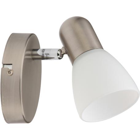 Бра с регулировкой направления света Toplight Violet TL1231Y-01SN, 1xE14x40W, никель, белый, металл, стекло