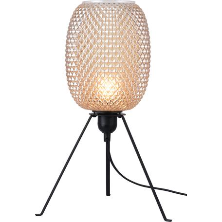 Настольная лампа Toplight Alice TL1210T-01BL, 1xE27x40W, черный, бежевый, металл, стекло