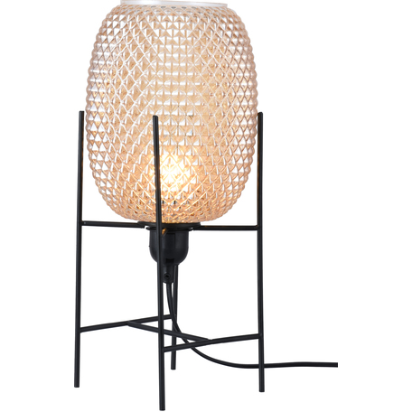 Настольная лампа Toplight Alice TL1211T-01BL, 1xE27x40W, черный, бежевый, металл, стекло
