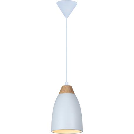 Подвесной светильник Toplight Leah TL0724H-2W, 1xE27x40W, белый с коричневым, белый, металл
