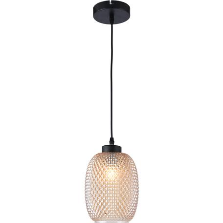 Подвесной светильник Toplight Alice TL1210H-01BL, 1xE27x40W, черный, бежевый, металл, стекло