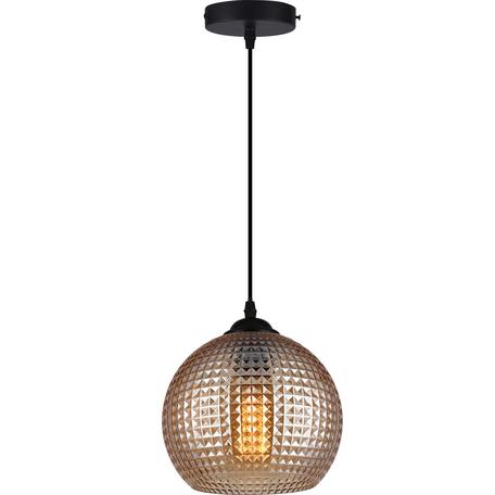 Подвесной светильник Toplight Verity TL1212H-01BR, 1xE27x40W, черный, коричневый, металл, стекло