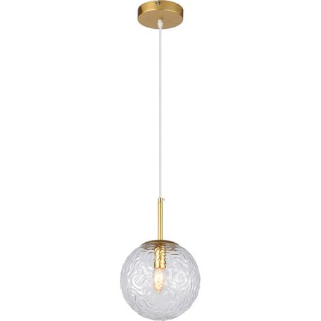 Подвесной светильник Toplight Alyse TL1215H-01TR, 1xE14x40W, золото, прозрачный, металл, стекло