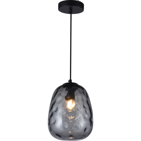 Подвесной светильник Toplight Lillian TL1218H-01BL, 1xE27x40W, черный, дымчатый, металл, стекло