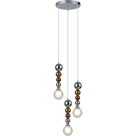 Подвесной светильник Toplight Roslyn TL1223H-03TR, 3xG9x33W, хром, прозрачный, металл, стекло