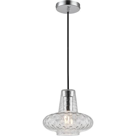 Подвесной светильник Toplight Scarlett TL2161H, 1xE27x40W, хром, прозрачный, металл, стекло