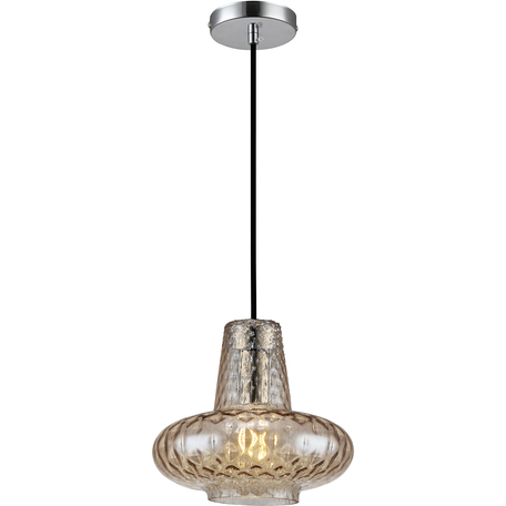 Подвесной светильник Toplight Scarlett TL2161H-C, 1xE27x40W, хром, прозрачный, металл, стекло