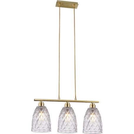 Подвесной светильник Toplight Pearle TL5362H-3, 3xE14x40W, золото, прозрачный, металл, стекло
