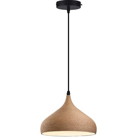 Подвесной светильник Toplight Maryann TL68739H-2, 1xE27x40W, черный, бежевый, металл, канат