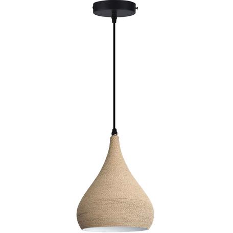 Подвесной светильник Toplight Maryann TL68739H-3, 1xE27x40W, черный, бежевый, металл, канат