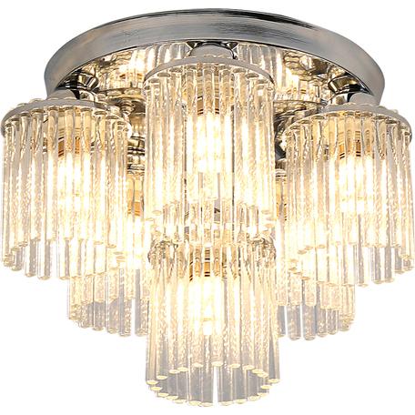 Потолочная люстра Toplight Kristina TL1206X-06CH, 6xE14x40W, хром, прозрачный, металл, стекло