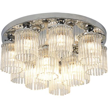 Потолочная люстра Toplight Kristina TL1206X-12CH, 12xE14x40W, хром, прозрачный, металл, стекло