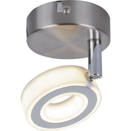 Потолочный светодиодный светильник с регулировкой направления света Toplight Kori TL1229Y-01SN, LED 5W, никель, белый, металл, металл с пластиком