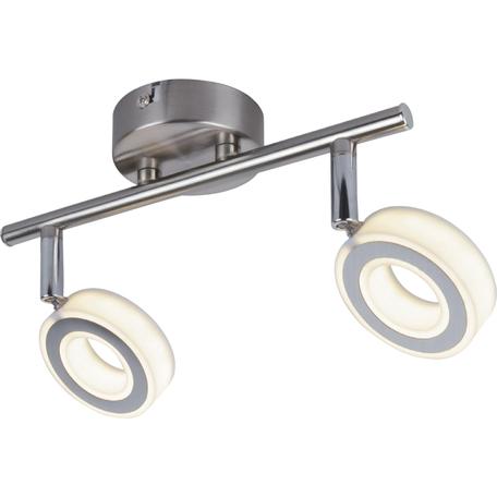 Потолочный светодиодный светильник Toplight Kori TL1229Y-02SN, LED 10W, никель, белый, металл, металл с пластиком