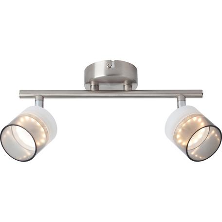 Потолочный светодиодный светильник с регулировкой направления света Toplight Rosa TL1230Y-02SN, LED 10W, никель, прозрачный, металл, металл с пластиком