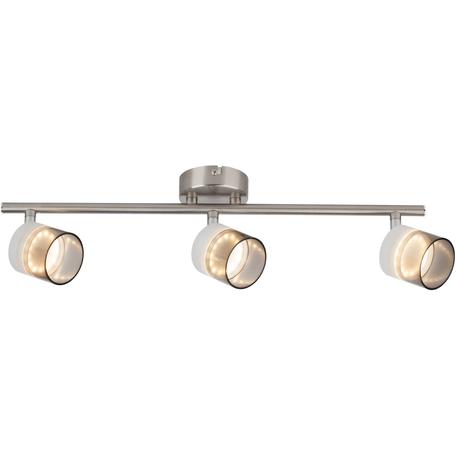 Потолочный светодиодный светильник с регулировкой направления света Toplight Rosa TL1230Y-03SN, LED 15W, никель, прозрачный, металл, металл с пластиком