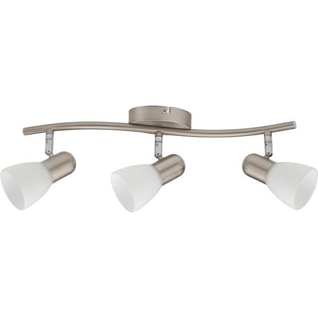Потолочный светильник с регулировкой направления света Toplight Violet TL1231Y-03SN, 4xE14x40W, никель, белый, металл, стекло