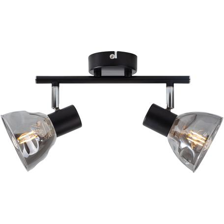 Потолочный светильник с регулировкой направления света Toplight Maralyn TL1234Y-02BL, 2xE14x40W, черный, дымчатый, металл, стекло