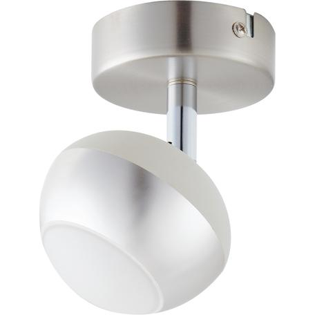 Потолочный светодиодный светильник с регулировкой направления света Toplight Doreen TL1241Y-01SN, LED 5W, никель, белый с никелем, металл, металл с пластиком