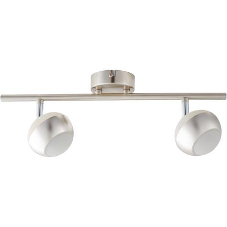 Потолочный светодиодный светильник с регулировкой направления света Toplight Doreen TL1241Y-02SN, LED 10W, никель, белый с никелем, металл, металл с пластиком
