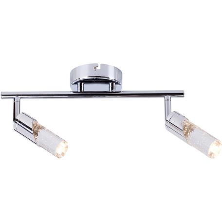 Потолочный светодиодный светильник с регулировкой направления света Toplight Faith TL1242Y-02CH, LED 10W, хром, прозрачный, металл, пластик