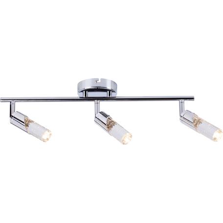 Потолочный светодиодный светильник с регулировкой направления света Toplight Faith TL1242Y-03CH, LED 15W, хром, прозрачный, металл, пластик