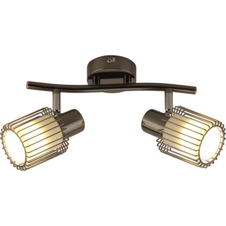 Потолочный светильник с регулировкой направления света Toplight Laurine TL1252Y-02BC, 2xE14x40W, черный, белый с черным, металл, металл со стеклом