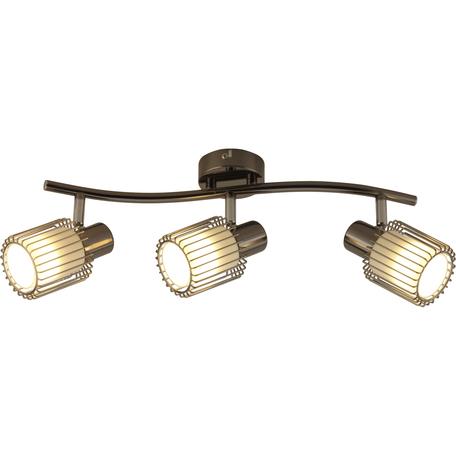 Потолочный светильник с регулировкой направления света Toplight Laurine TL1252Y-03BC, 3xE14x40W, черный, белый с черным, металл, металл со стеклом