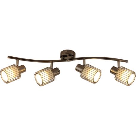 Потолочный светильник с регулировкой направления света Toplight Laurine TL1252Y-04BC, 4xE14x40W, черный, белый с черным, металл, металл со стеклом