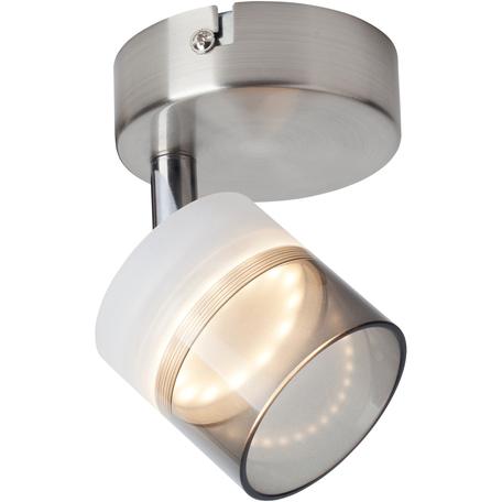 Потолочный светодиодный светильник с регулировкой направления света Toplight Rosa TL1230Y-01SN, LED 5W, никель, прозрачный, металл, металл с пластиком