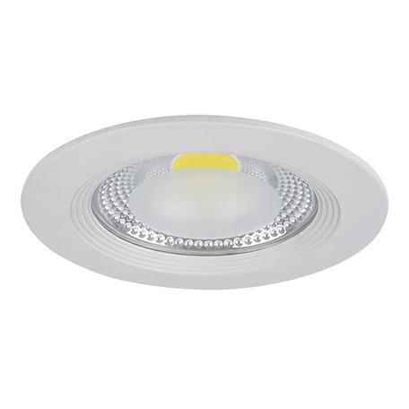 Встраиваемый светодиодный светильник Lightstar Forto 223152, IP44, LED 15W 3000K 1430lm, белый, прозрачный, металл со стеклом