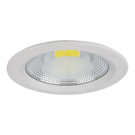 Встраиваемый светодиодный светильник Lightstar Forto 223302, IP44, LED 30W 3000K 2850lm, белый, прозрачный, металл со стеклом
