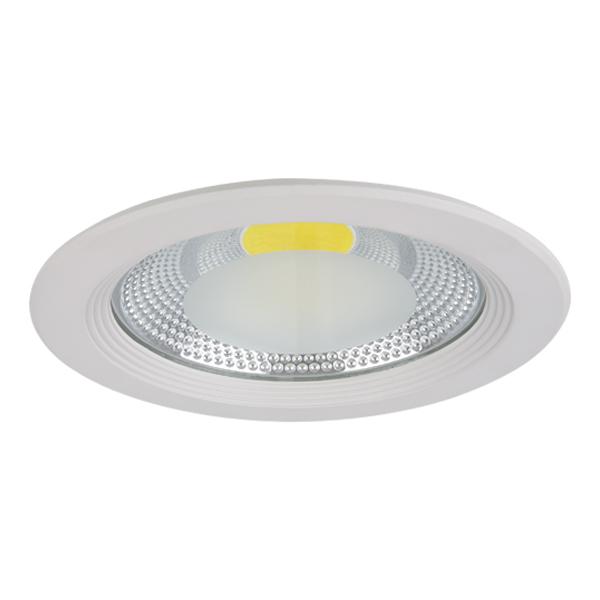 Встраиваемый светодиодный светильник Lightstar Forto 223302, IP44, LED 30W 3000K 2850lm, белый, прозрачный, металл со стеклом - фото 1