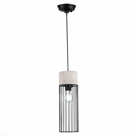 Подвесной светильник ST Luce Pateria SL1144.423.01, 1xE27x60W, черный, серый, металл