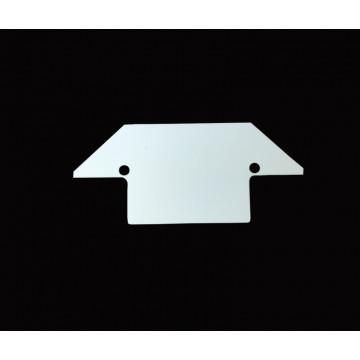 Концевая заглушка для шинопровода Denkirs TR3020 TR3021-AL, белый, металл