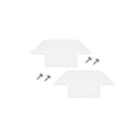 Концевая заглушка для трека Denkirs TR3020 TR3021-AL, белый, металл
